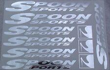 Spoon Sports JDM Chrome Cut Vinyl Decal Sticker Sheet