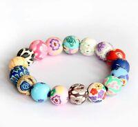 Polymer Clay Flowers Beads Tibet Buddhist Prayer Bracelet Mala