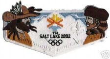 SALT LAKE CITY 2002 WINTER OLYMPIC BOY SCOUT FLAP PATCH