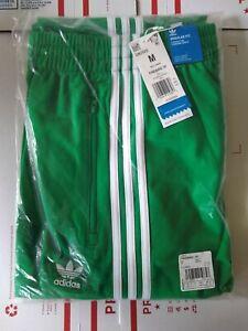 adidas Originals Firebird Three Stripe Track Pants logo Green Men's Size Medium