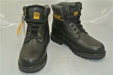 CATERPILLAR BLACK LEATHER ANKLE BOOTS (UK SIZE 8) GOODYEAR WELTED CONSTRUCTION