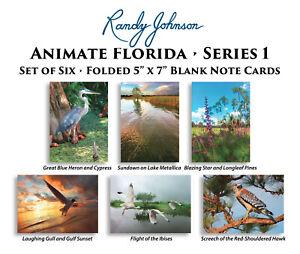Animate Florida Blank Art Note Cards by Randy Johnson