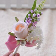 Artificial Silk Wedding Flowers Suit Corsage Bridal Grooms Pin Prom Decor #3
