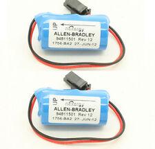 2X 3.0V 1200mAh Replace BR2/3A-AB PLC Battery for Allen Bradley 1756-BA2 1747-BA