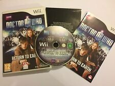 NINTENDO Wii DR DOCTOR WHO RETURN TO EARTH GAME +BOX & INSTRUCTIONS COMPLETE PAL