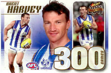2011 Select AFL Champions 300 Game Case Card CC39 Brent Harvey (Nth Melbourne)