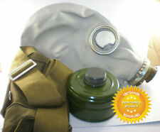 Improved Full Set of Size - 2 Soviet Russian Military Gas mask GP-5 Grey Rubber
