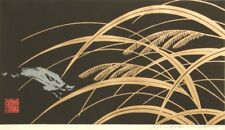 Original pencil signed coloured Japanese woodblock print 1995