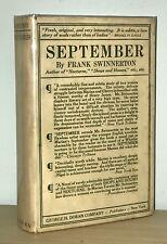 Frank Swinnerton - September - 1st 1st 1919 HCDJ - Extremely SCARCE - NR