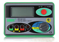 DY4100 Digital Earth Ground Resistance Tester Meter 0/20/200/2000Ω 0.01