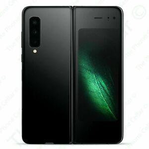 """Unlocked Samsung Galaxy Fold SM-F900U 7.3"""" Infinity Flex 512GB Cosmos Black"""