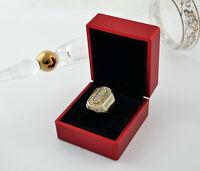 Ring 750 Gold Pyramid 8-eckig 2,50 Carat Brillanten brilliant-cut diamonds Gr 56