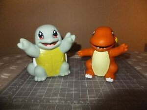 Lot of 2 Rare 1999 Nintendo Squirtle & Charmander Bath Toys 4.5Inches
