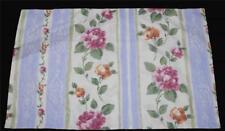 2 Vtg Dan River Shabby Floral Roses Lavender Pink Gold Green King Shams New