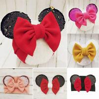 Baby Girl Headbands Mickey Mouse Ears Headband Hairbands Bowknot for Newborn Hat