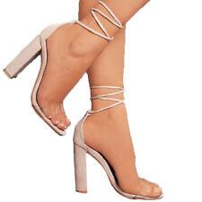 Damen Pumps Riemchen High Heels Absatzschuhe Blockabsatz Sommer Sandalen Schuhe