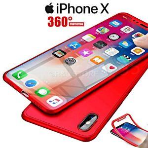 COVER per Apple Iphone X CUSTODIA MORBIDA TPU SILICONE Fronte Retro 360° SLIM