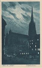 Postkarte - Wien bei Nacht / Stefansdom