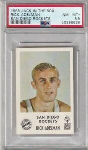 1968 Jack in the Box Rick Adelman RC PSA 8.5  San Diego Rockets Basketball HOF