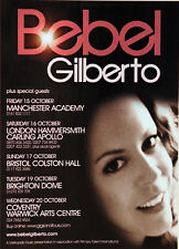 BEBEL GILBERTO 2005 UK TOUR MAGAZINE ADVERT