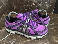 Brooks Pure Flow Purple Silver Running Shoes 1201011B504 Women Size 9