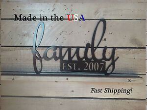 Family with Established Date, Home Decor,  Customized W1086