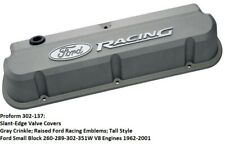 Proform 302-137:Slant-Edge Aluminum Valve Covers - Gray - Ford Small Blocks