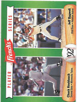 1992 French's Player Series #1 JEFF BAGWELL & CHUCK KNOBLAUCH - HOF - Excellent