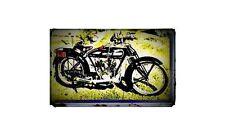 1920 Blue Bird Bike Motorcycle A4 Retro Metal Sign Aluminium