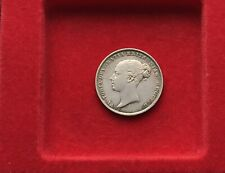 More details for 1853 queen victoria silver sixpence high grade