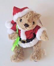 """HERRINGTON TEDDY BEARS MERRY CHRISTMAS SANTA BEAR W/ SACK 7"""" SITTING"""