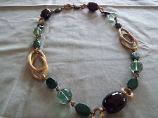Stephen Dweck Mixed Gems Brass Necklace