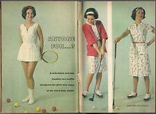 1962 WOMAN'S GOLF FASHION ARTICLE~LISABETH HUSH~OUTFIT F.B. HORGAN & LEE HERMAN