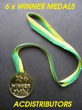 GOLD MEDALS 6Pcs Award Achievement Prize Winner Medal Fun Novelty Toy Medals