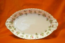"""Royal Albert Oval Dish 10.5"""" x 6.25""""   Pattern Winsome Pink Rose Blue Flowers"""