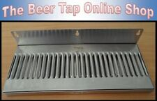 "14"" x 6"" Stainless Steel Wall Mount Drip Tray for Kegerator - Keezer - Beer Tap"