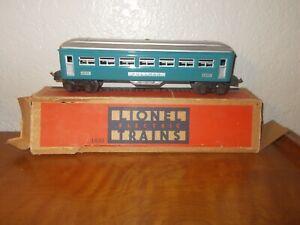 VTG Lionel Electric Blue/Silver Metal Pullman Car 1630 Train w/Original Box