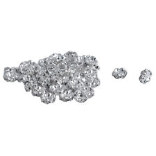 2X(50 PCS Ring 8mm CZ Rhinestone Metal Beads Silver A2D2)