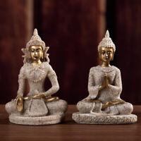 Sandstone Buddha Statue Sculpture Handmade Figurine Home Craftwork Decors Call