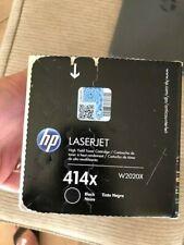 GENUINE HP  LASERJET 414x W2020X Black Toner Cartridge DAMAGED SEALED BOX