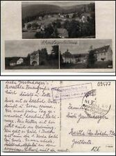 1958 Schmalzgrube über Annaberg Landpoststempel a/ Mehrbildkarte (b. Jöhstadt)