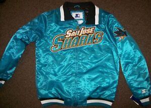 SAN JOSE SHARKS Starter NHL Full Zip  Jacket TEAL  M L XL 2X