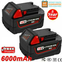 2 PACK For Milwaukee M18 Lithium XC 6.0 AH Extended Capacity Battery 48-11-1852