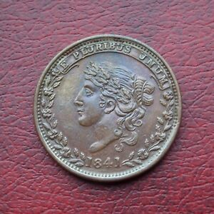 USA 1841 copper hard times large cent
