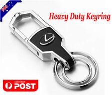 Car styling Silver Leather Car Key Ring Keychain Chain For Lexus Car 4WD AWD
