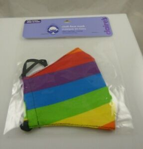 face mask Rainbow stripes pride cloth adult size