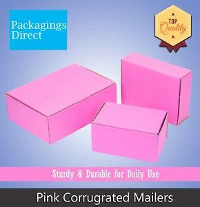 Pink Corrugated Box Mailer High Quality Mailing Box Shipping Carton