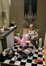 Fashion Royalty, Poppy Parker, Barbie 12'' box room-Diorama. All items included!