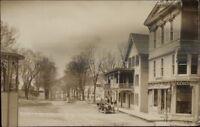 South Otselic NY Street Scene & Gothic House c1910 Real Photo Postcard