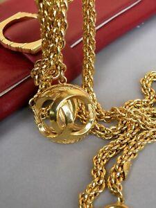 Chanel Necklace Vintage Golden Chain long with Fabulous Pendant